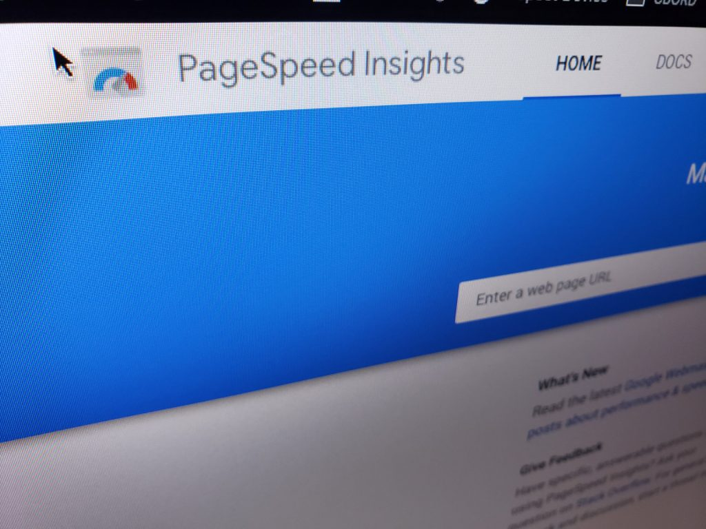 PageSpeed Insights tool